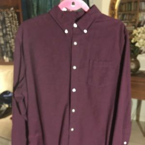 Sonoma Gorgeous Plum Colored Button Down Shirt